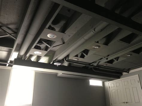 spray painting unfinished basement ceiling spray paint basement ceiling ideas painted basement