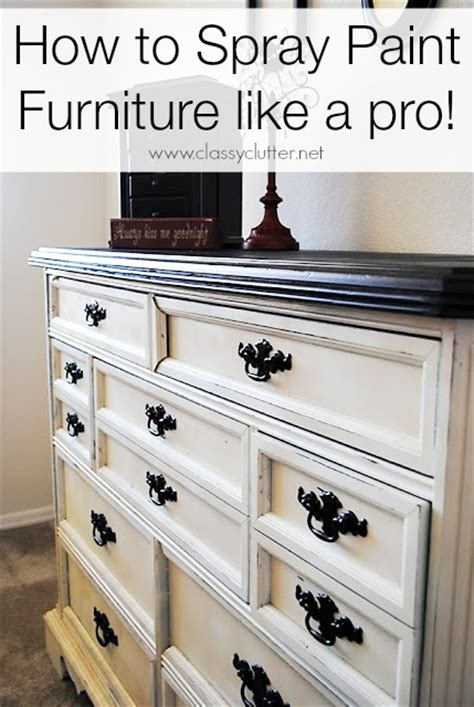 diy chalk paint furniture how to how to spray paint furniture clutter