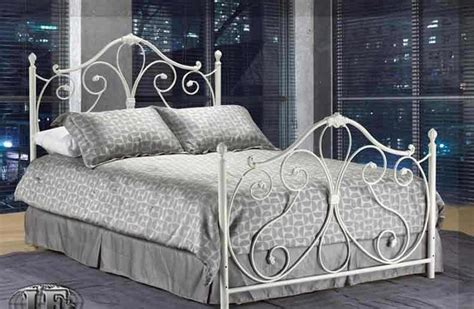 white iron bed frames traditional beds