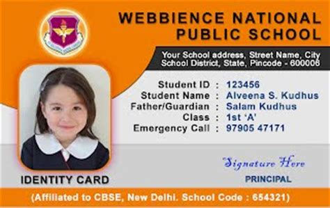 how to make school id cards webbience school id card templates 030521a