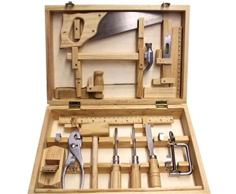 woodworking tool set moulin roty s large tool box set boasts 14 real