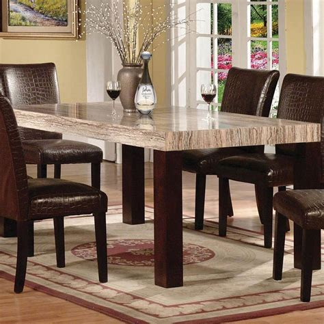 acme dining table acme furniture fraser rectangular leg dining table with