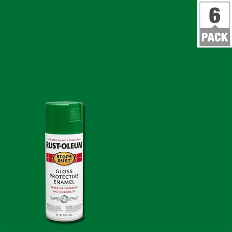 spray paint emerald forest rust oleum stops rust 12 oz gloss emerald protective