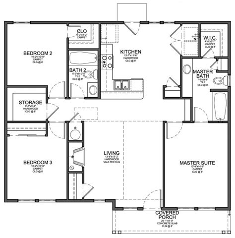 modern 3 bedroom house design small 3 bedroom modern house plans cottage house plans