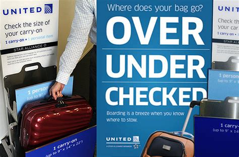 united airlines checked baggage policy airline carry on luggage size