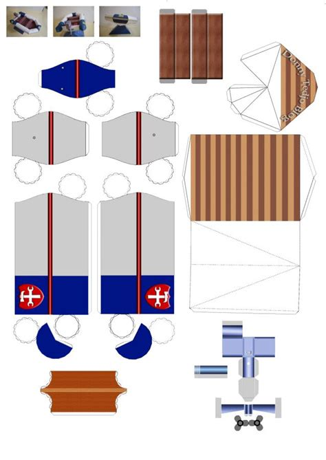 boat paper craft guide plan
