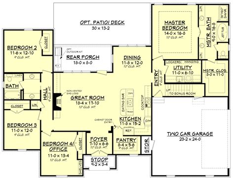 house plans with room acadian house plan 142 1154 4 bedrm 2210 sq ft home plan