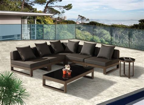 outdoor sofa sectional modern outdoor quot v quot shape sectional sofa set for 5