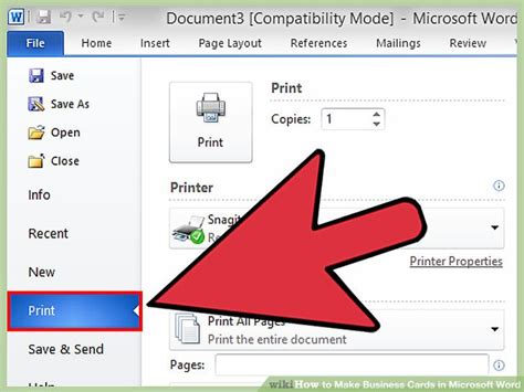 make business cards microsoft word how to set up a business card file for print best