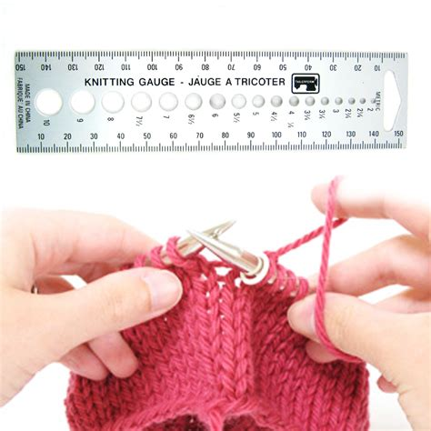 how to measure knitting new knitting knit needle sizer ruler measure tool us