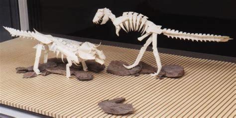 origami t rex skeleton issei yoshino dinosaur skeletons