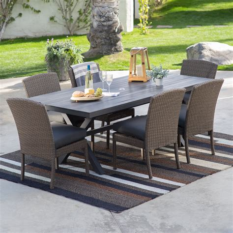 steel patio furniture sets hanover outdoor furniture 6 steel patio dining set