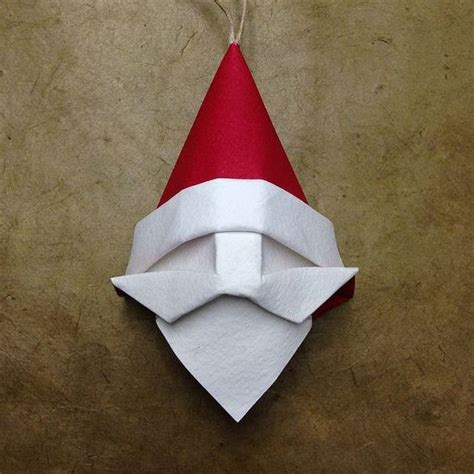 crafts for to make with paper origami santa ornament