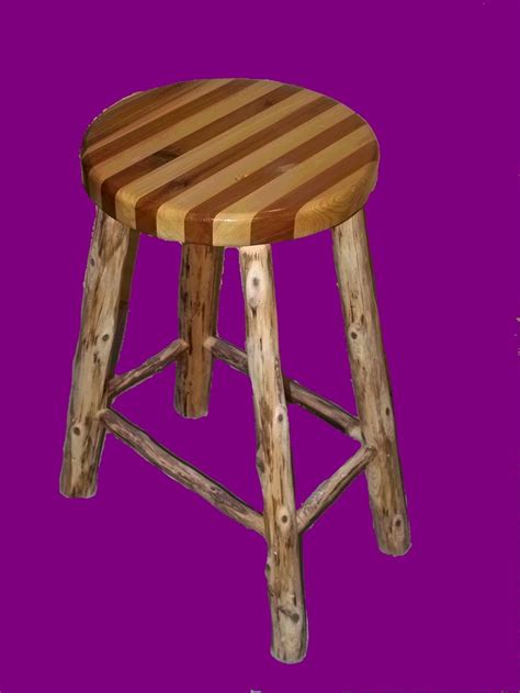 Custom Wood Bar Stools by Made Cedar Bar Stool By The Pine Harry
