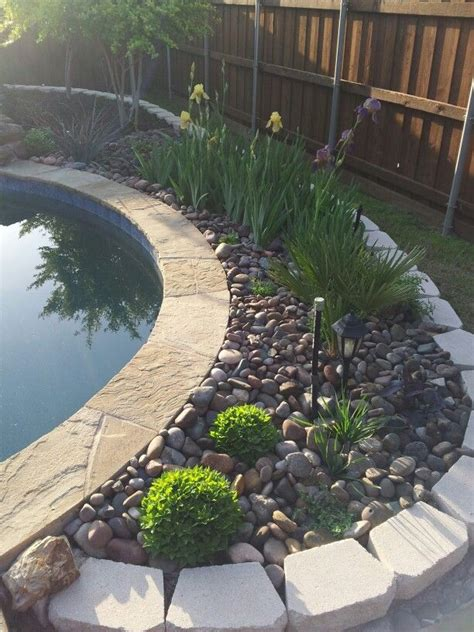 garden bed rocks rock garden flower bed pool rock gardens