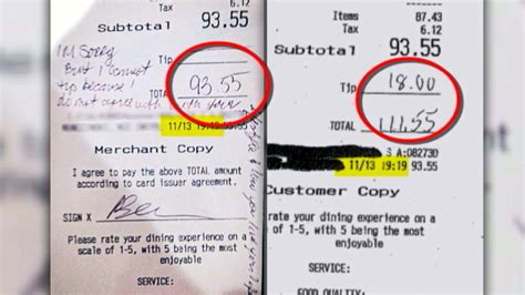 how to make a copy of a credit card family says they did tip server didn t leave note