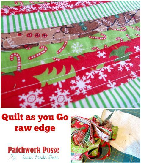 quilt as you go quilt as you go edge technique