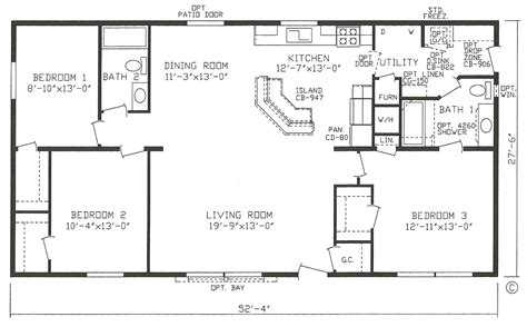 3 bedroom mobile home mobile home blueprints 3 bedrooms single wide 71