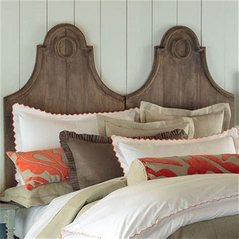 two beds make unique headboards gingham pearls