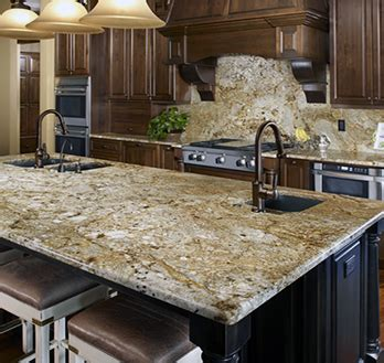 Cherry Kitchen Cabinets With Granite Countertops golden crystal granite