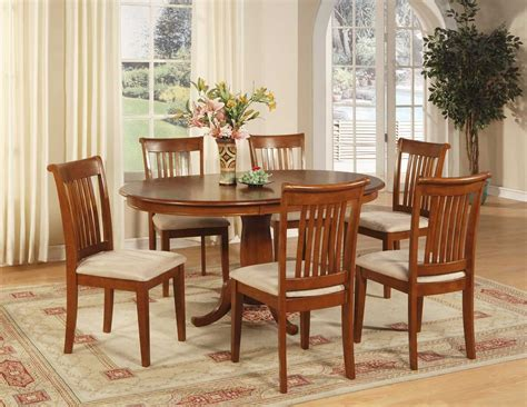 dining room table 6 chairs 7 pc oval dinette dining room set table and 6 chairs