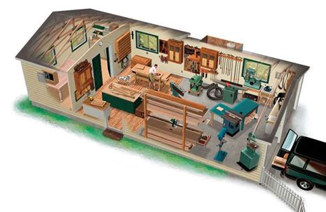 garage woodworking shop layout ultimate woodshop garage and carport plans at family