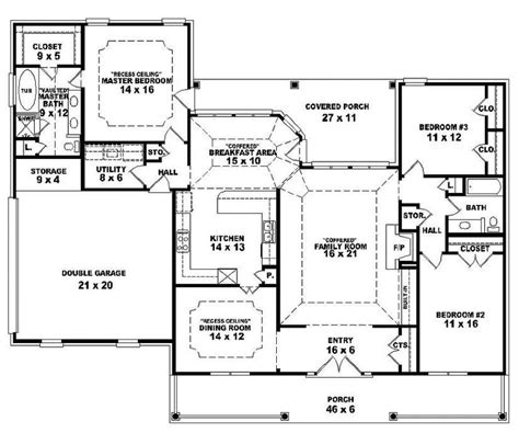 one story open house plans beautiful single story open floor plan homes new home plans design