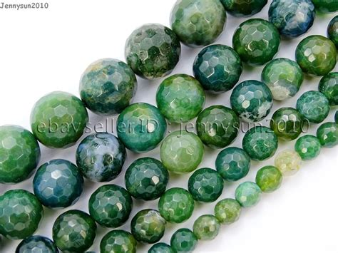 faceted gemstone moss agate gemstone faceted 15 4mm