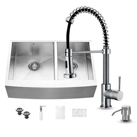 stainless steel kitchen sinks 33 x 22 shop vigo 33 in x 22 25 in stainless steel basin