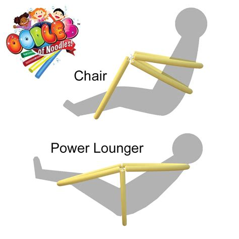 Water Chair by Power Lounger Floating Pool Noodle Water Chair Comfortable