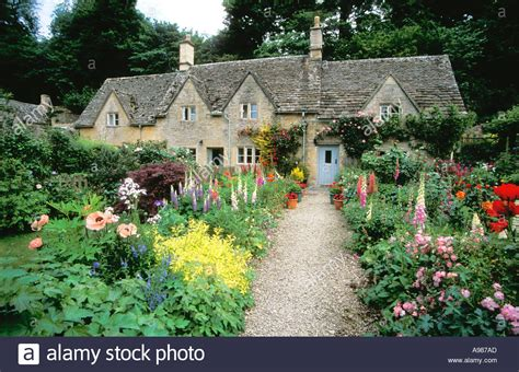 ancient cottages and traditional cottage gardens