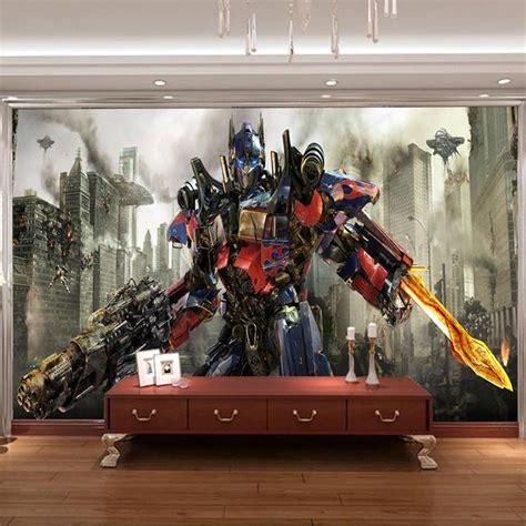 Transformers Wall Murals transformers photo wallpaper 3d optimus prime wall mural