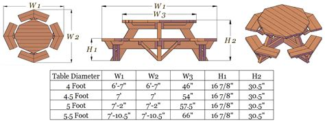 picnic table woodworking plans wood shop hex picnic table plans free