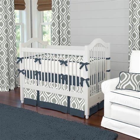 crib bedding grey gray and navy raindrops crib bedding boy baby bedding