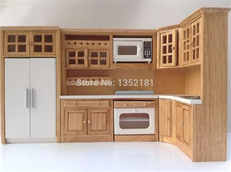 dollhouse kitchen furniture 1 12 dollhouse miniature integral kitchen furniture