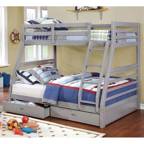furniture of america bunk beds furniture of america thaddeus bunk bed in
