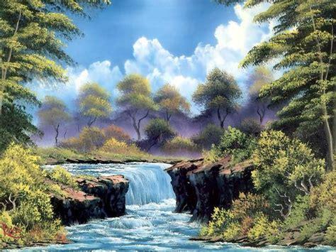 bob ross painting the revenant bob ross waterfall paintings bobs feliz