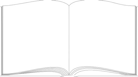 outline picture of a book book white outline clip at clker vector clip