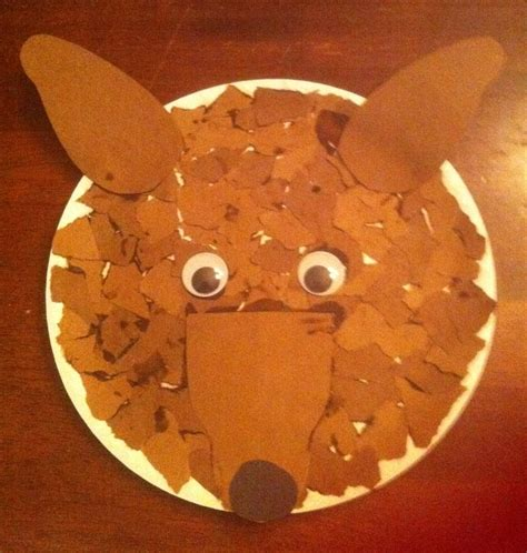 wolf paper plate craft wolf craft arts crafts