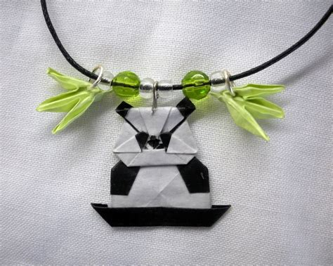 origami charm necklace origami panda charm necklace by squeejie on deviantart