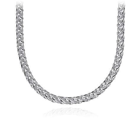 sterling silver chain for jewelry wheat chain necklace in sterling silver blue nile