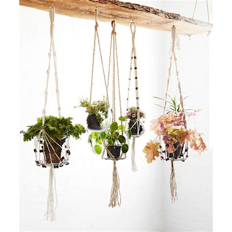glass hanging planters hanging glass planter with jute cord by out there