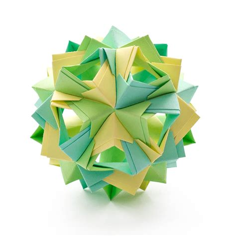 origami kusudama island kusudama by sinayskaya diagram go