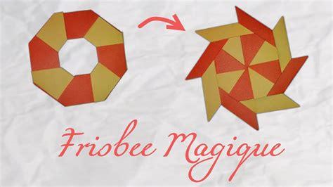 origami frisbee origami un frisbee magique a magic frisbee