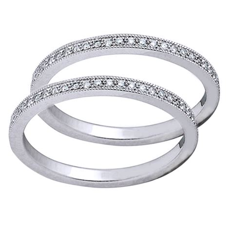 bead set diamonds platinum bead set guard rings