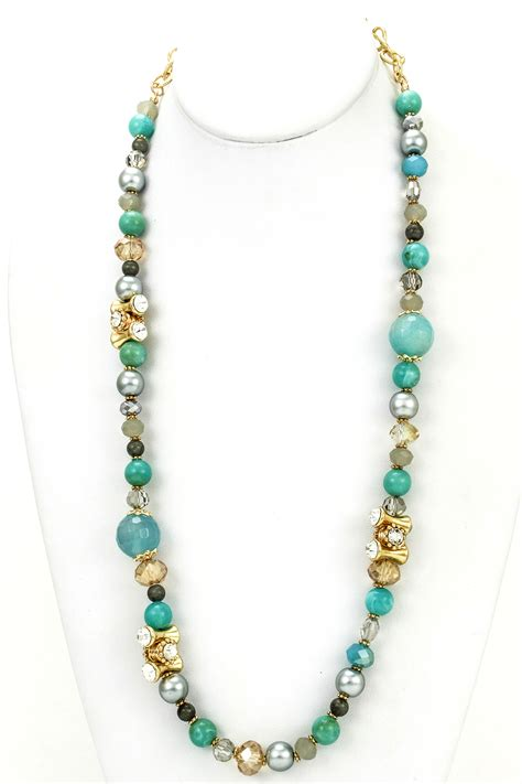 beaded chain for jewelry gemstone beaded chain link necklace necklaces