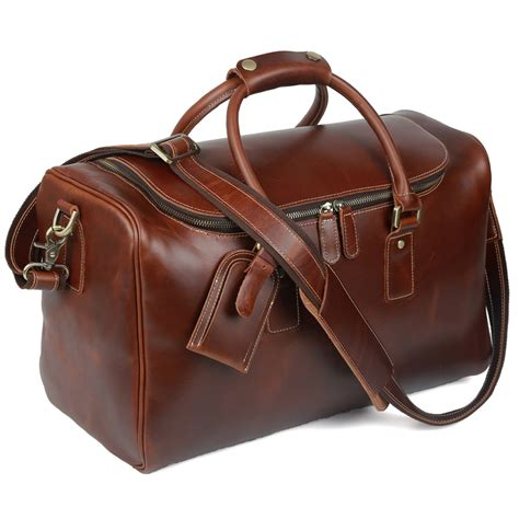 leather duffle bag mens tiding leather duffle bag for travel luggage