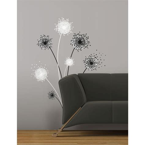 peel wall stickers dandelion peel and stick wall decal