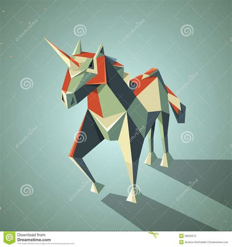 three dimensional origami three dimensional magic origami unicorn from stock