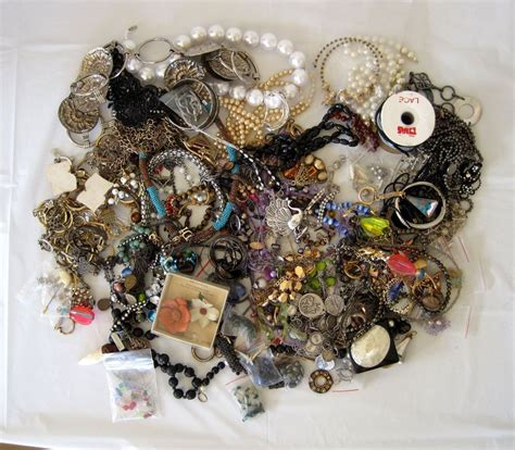 jewelry crafts junk jewelry lot for crafting crafts jewelry 9 lbs